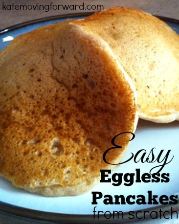 Easy eggless pancakes from scratch