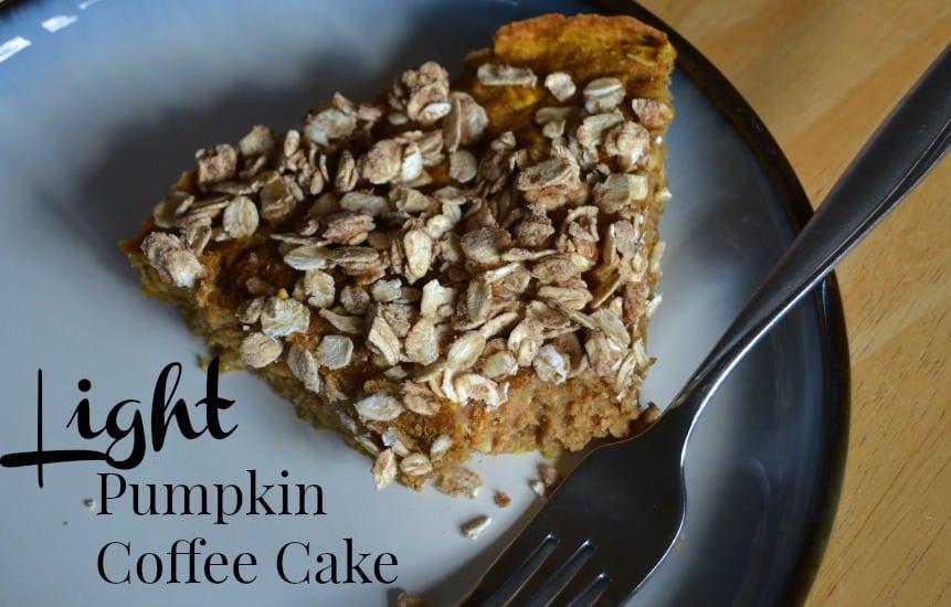 Light Pumpkin Coffee Cake