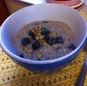 blueberry walnut oats