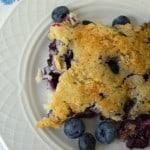 Lazy Day Blueberry Cobbler