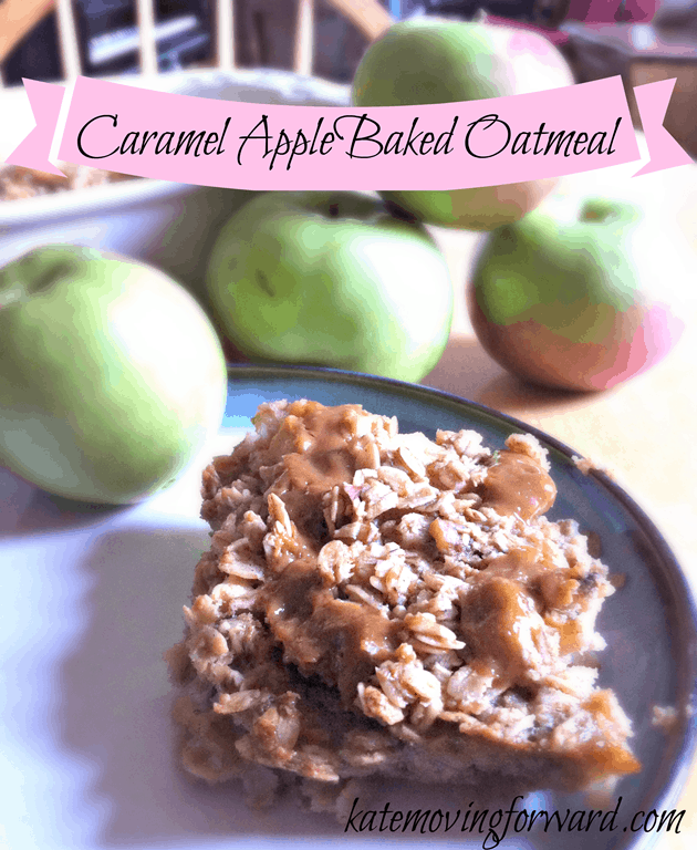 Caramel Apple Baked Oatmeal recipe