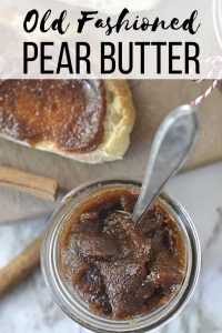 Old Fashioned Pear Butter