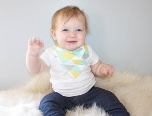 kerchief bib for baby