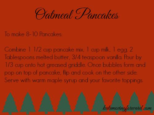 Oatmeal pancake instructions