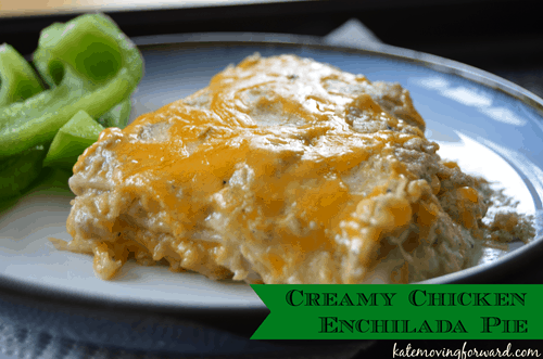 Creamy and Healthy Chicken Enchilada Pie