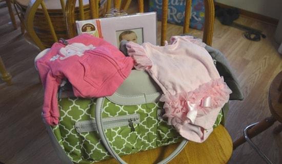 packing baby bag