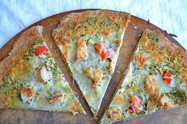 Garlic-Chicken-Pesto-Pizza