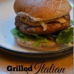 Grilled Italian Turkey Burgers