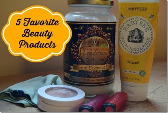 5 Favorite Beauty Products