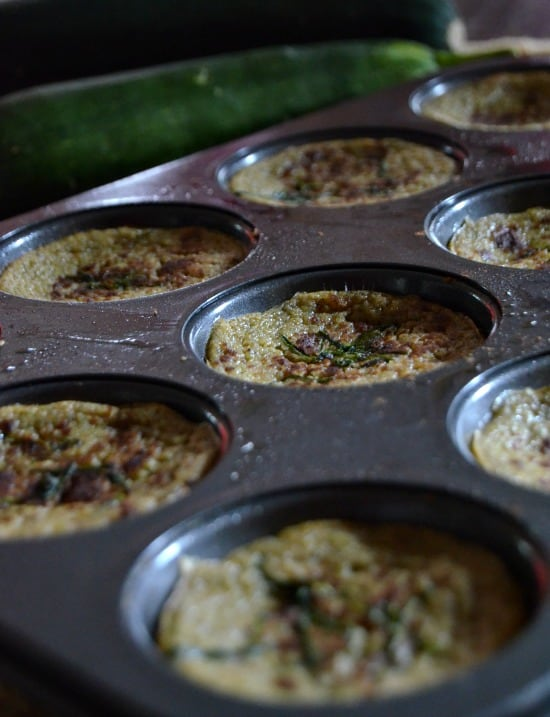 Zucchini Custard Cups--perfect for summer produce