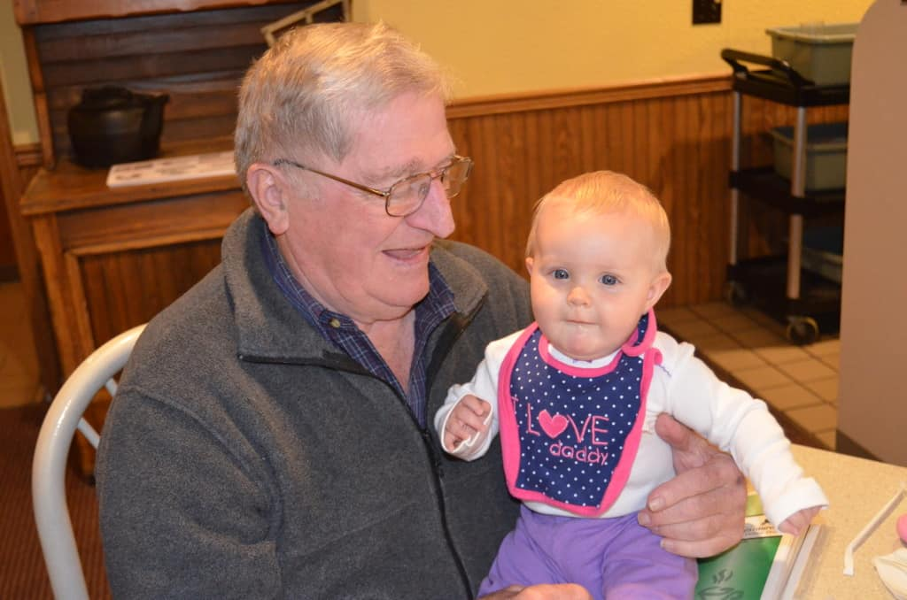 Layla and Great Grandpa