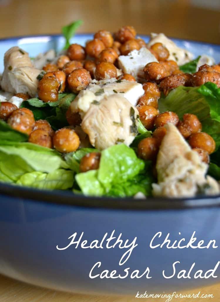 Healthy Chicken Caeasar Salad