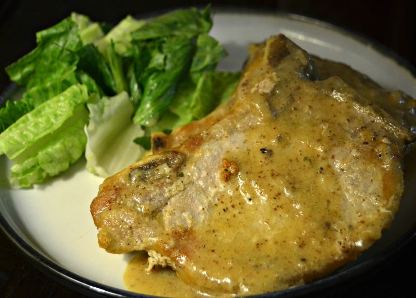 Pork Chop with Creamy Mustard Sauce