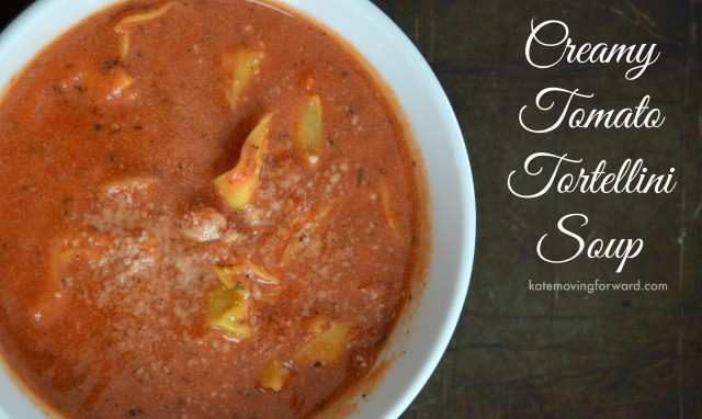 Healthy Recipes Creamy Tomato Soup with Tortellini