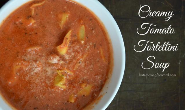 Healthy Recipes Creamy Tomato Soup with Tortellini