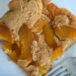 Lazy Day Peach Cobbler