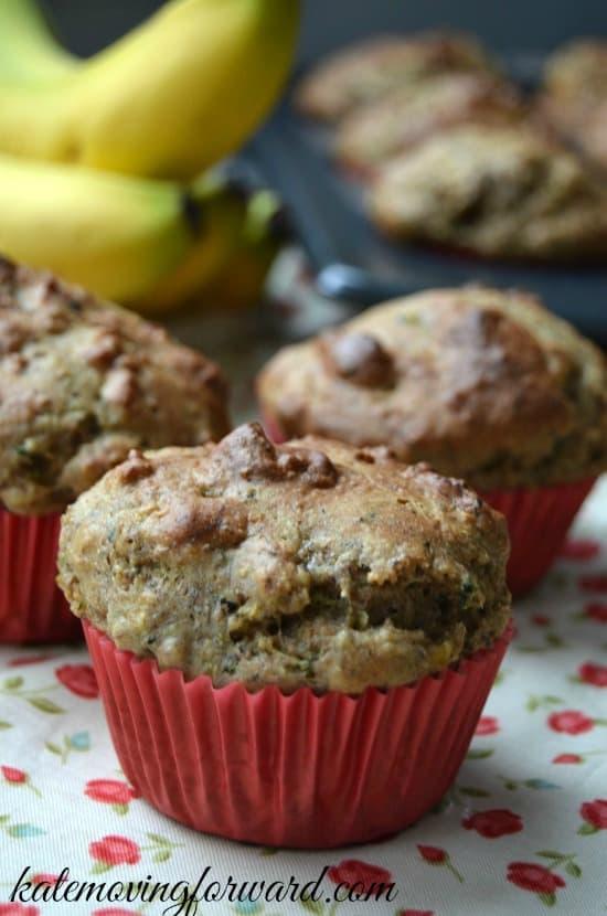 Breakfast Muffins with Zucchini and Banana