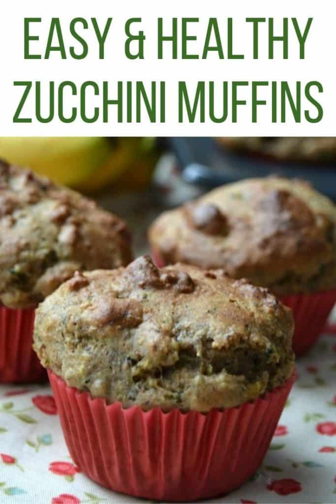 Easy and healthy zucchini muffins