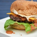Cheddar Burgers with Southwest Sauce