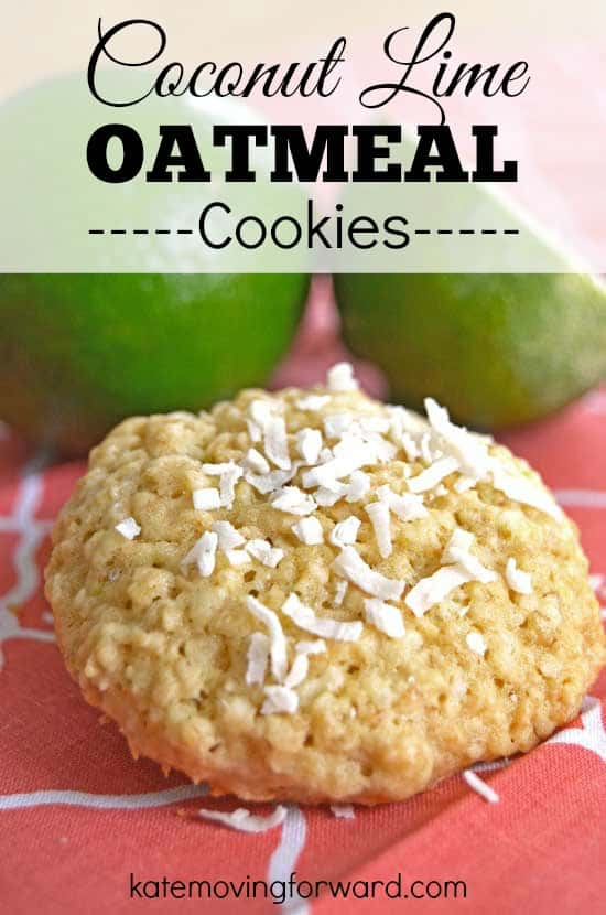 Coconut lime and oatmeal cookies