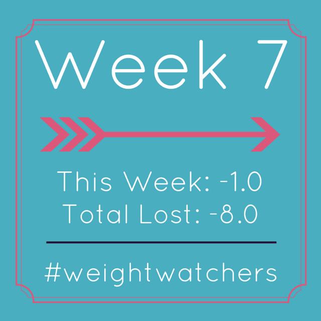 Weight Watchers Week 7