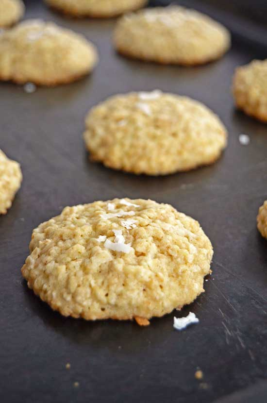 lime coconut oatmeal cookies