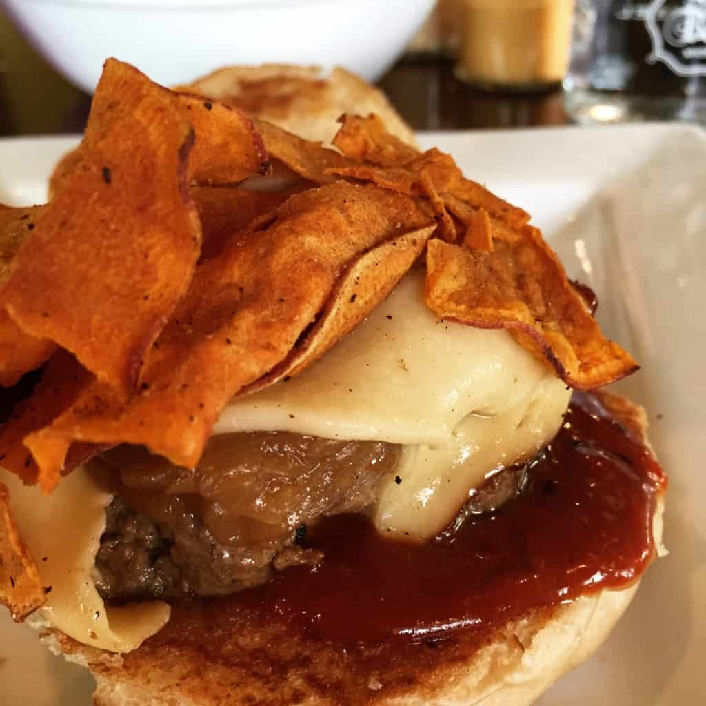 whiskey bbq burger
