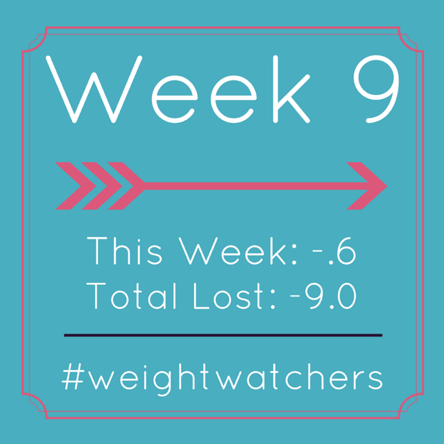 Weight Watchers Week nine