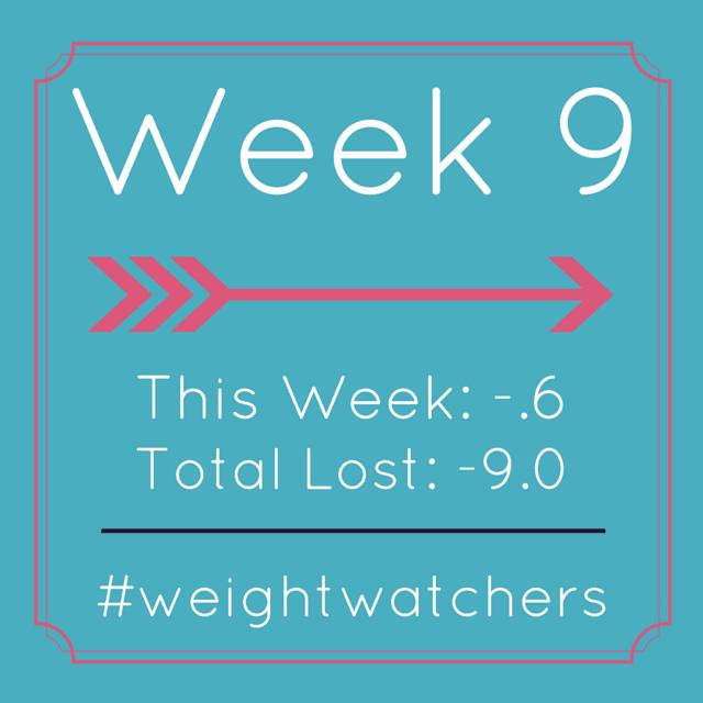Weight Watchers Week nine