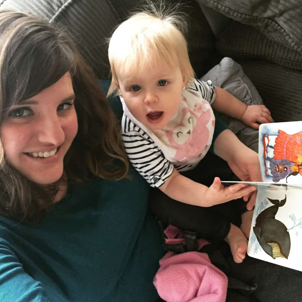Mom and Layla reading