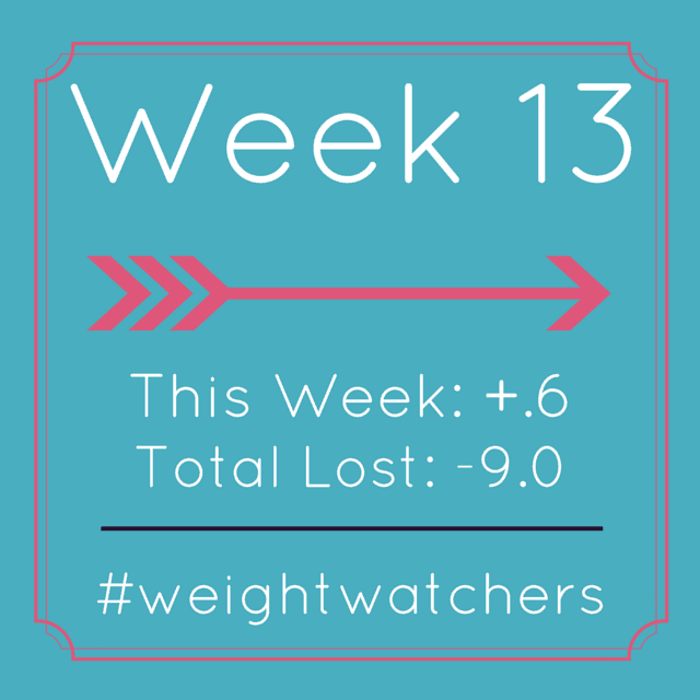 Weight Watchers Week 13