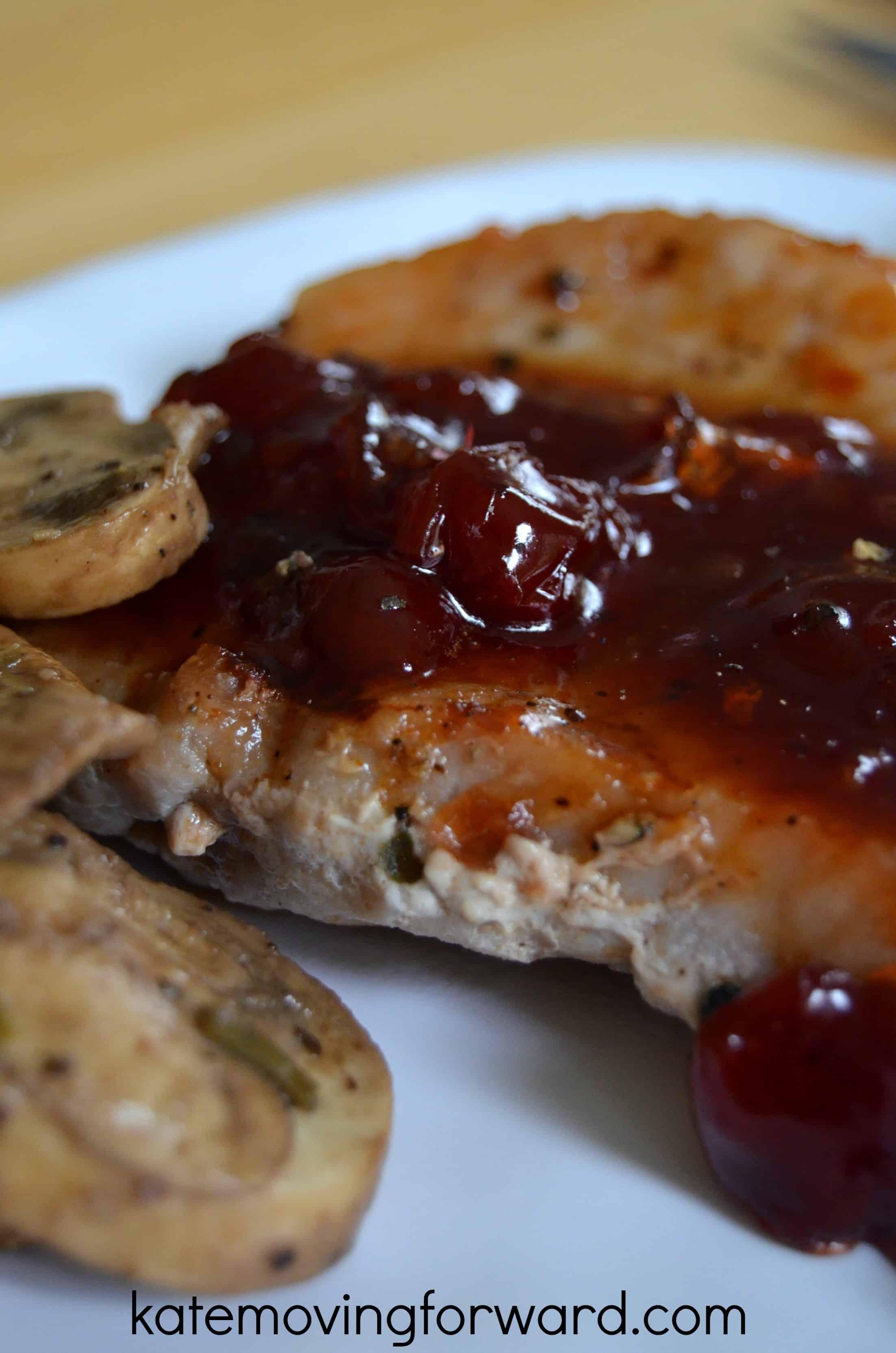 jelly covered pork chop