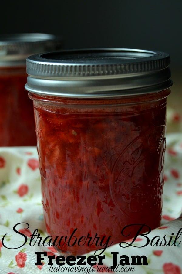 Strawberry Basil Freezer Jam Recipe
