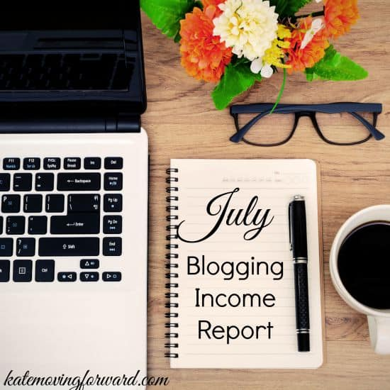 July Blogging Income Report from a small blog