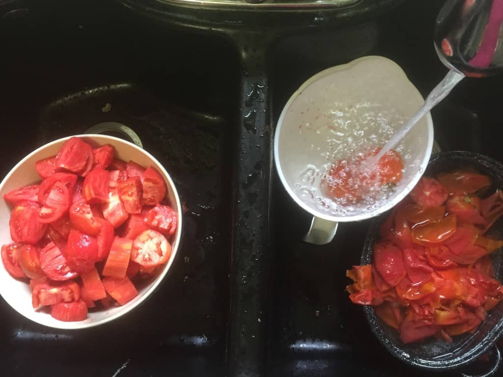 canning tomatoes process