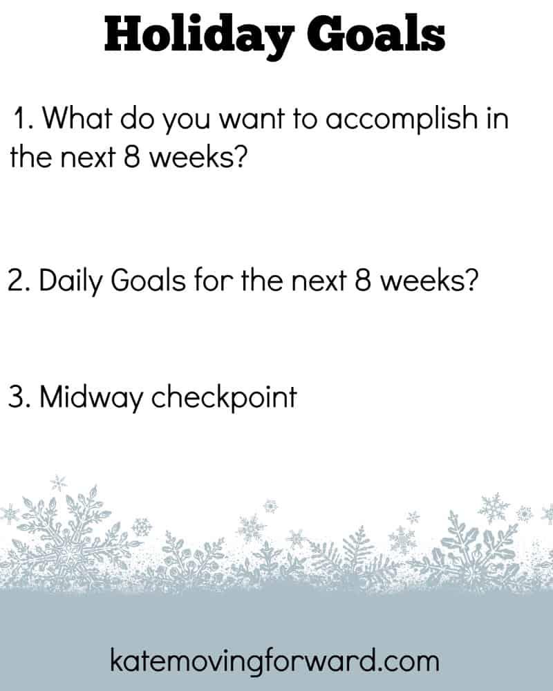 Holiday Goals Worksheet