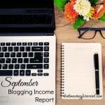 September Blogging Income Report