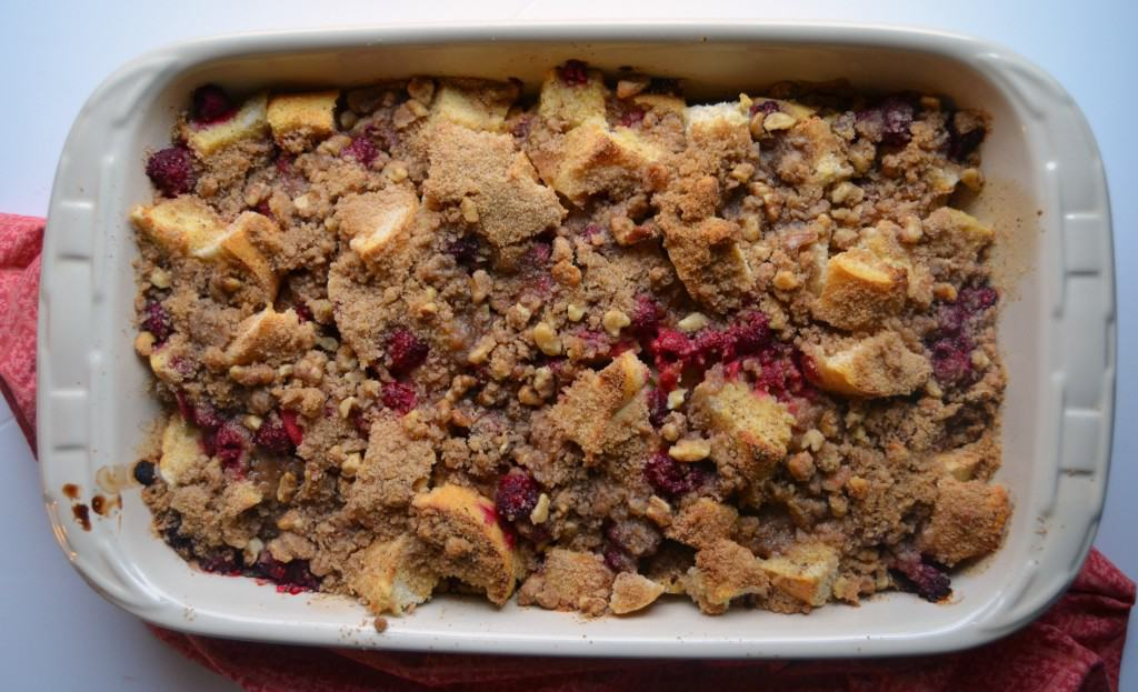 raspberry French toast bake