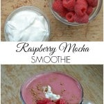 Raspberry Mocha Smoothie - Great for a healthy breakfast, snack or treat! Packed with flavor, protein, and antioxidants too!