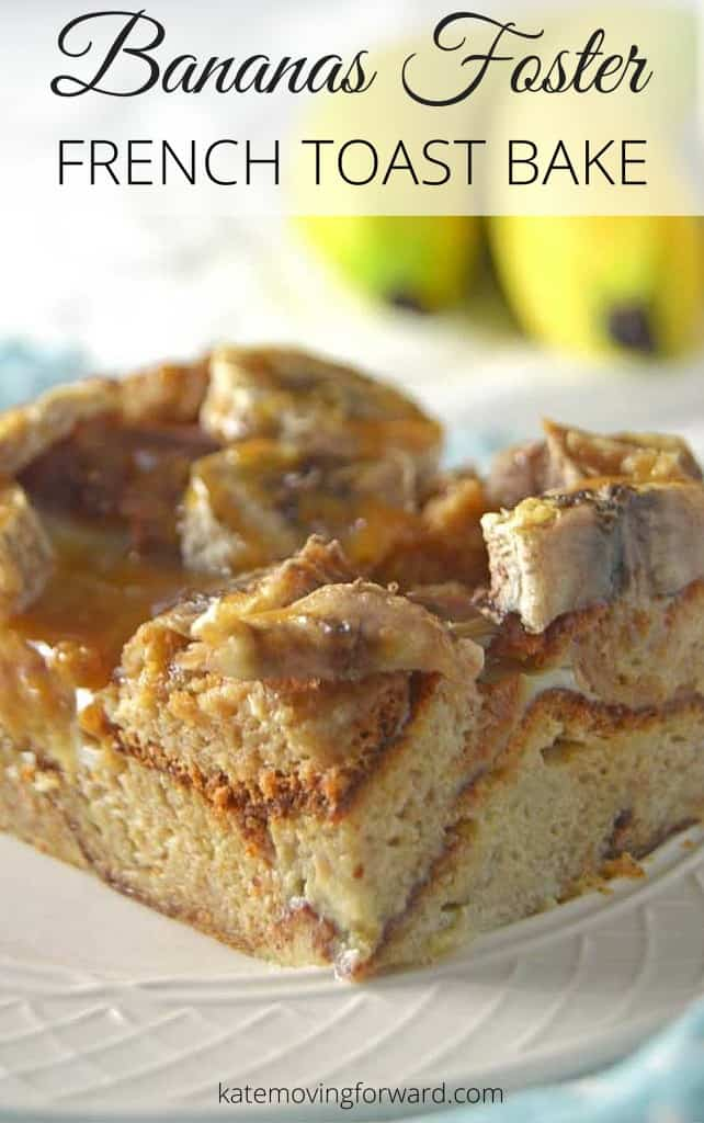 This easy Bananas Foster French Toast Bake can be made ahead the day before, refrigerated overnight, and then just popped in the oven the next morning for a delicious and healthy breakfast!