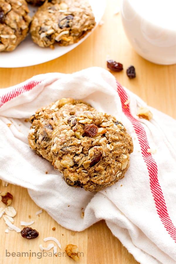 Cinnamon Walnut Raisin Breakfast Cookies 1
