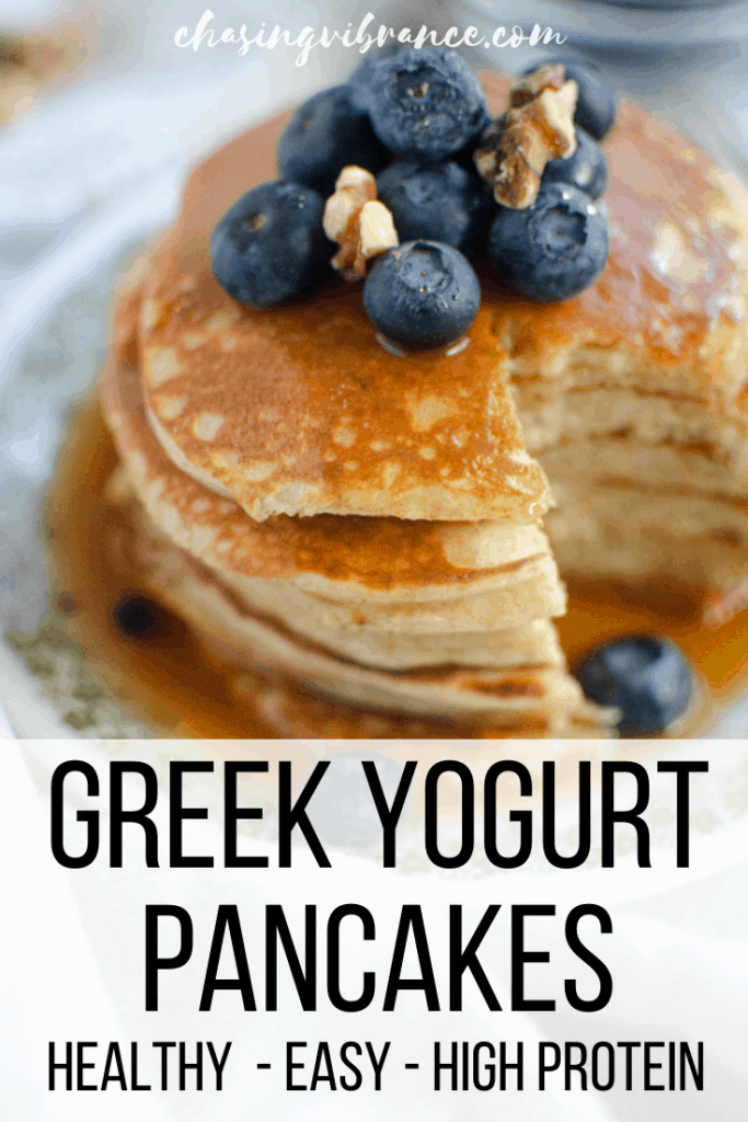 Greek Yogurt Pancakes - healthy, easy, and high protein