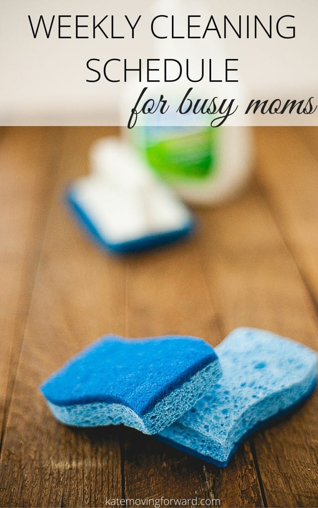 Weekly Cleaning Schedule for busy moms - A great way to organize your cleaning and get it ALL done in one day! Check out these tips before you clean again!