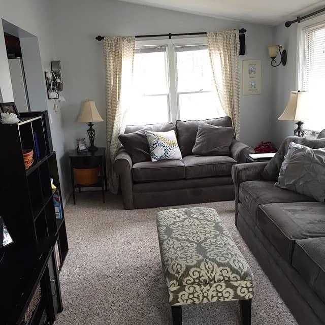 living room clean