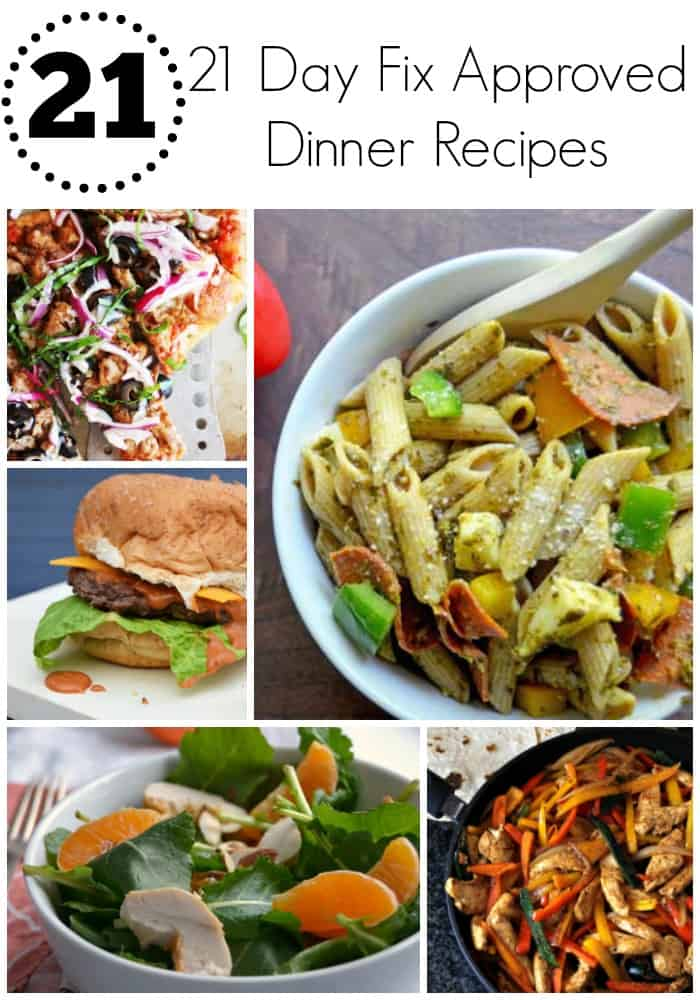 21 21 Day Fix Approved Dinner Recipes - Delicious, quick, easy, and clean dinner recipes and ideas perfect for the 21 Day Fix!