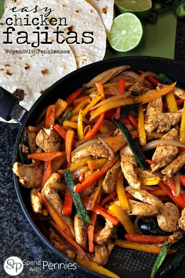 Easy-Chicken-Fajitas