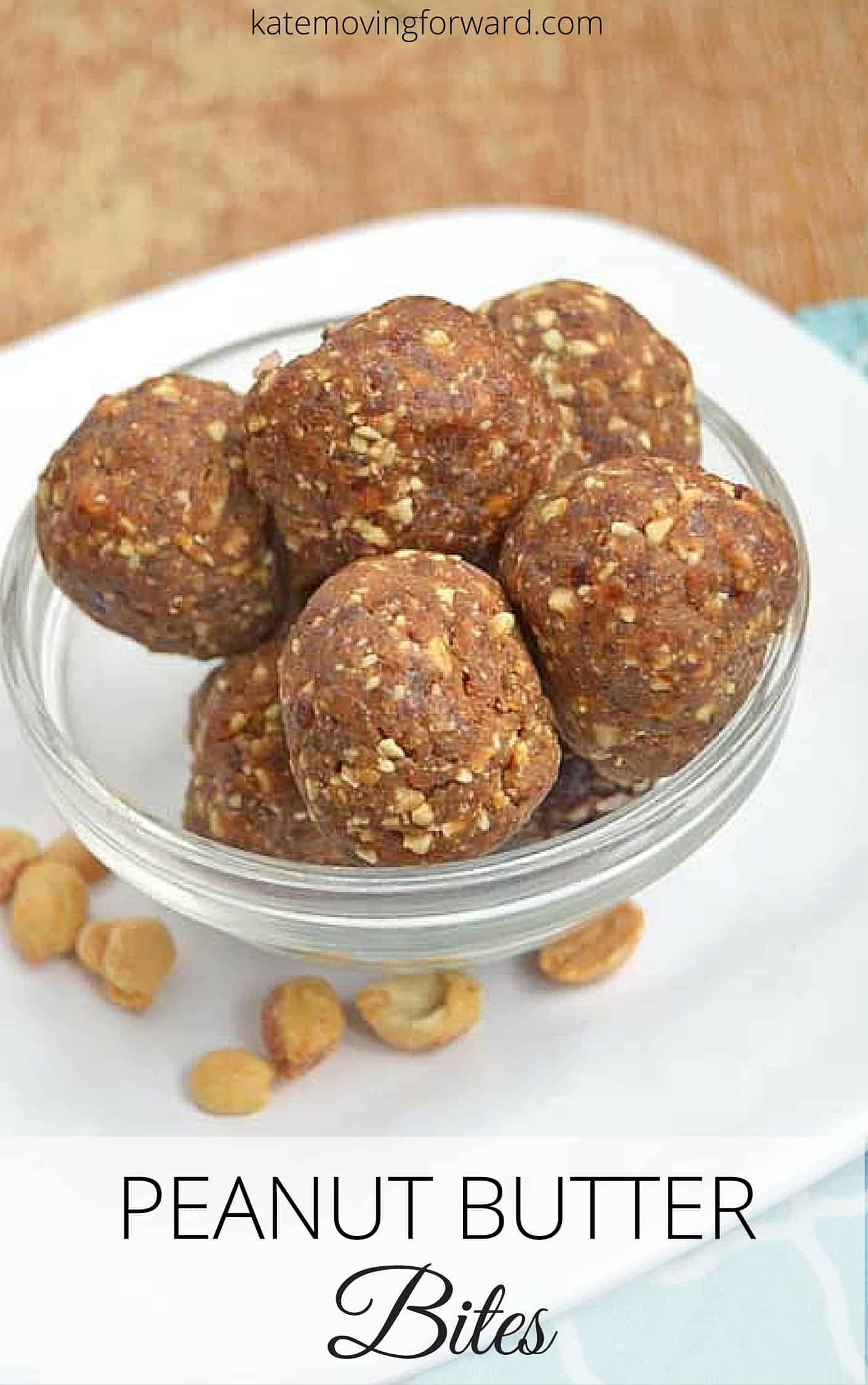Peanut Butter Bites - a healthy and delicious on the go snack! No sugar, gluten or dairy! Quick & easy to make, kid friendly too!-can't wait to make these ASAP!