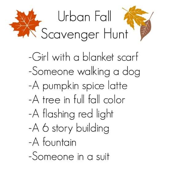 urban fall scavenger hunt