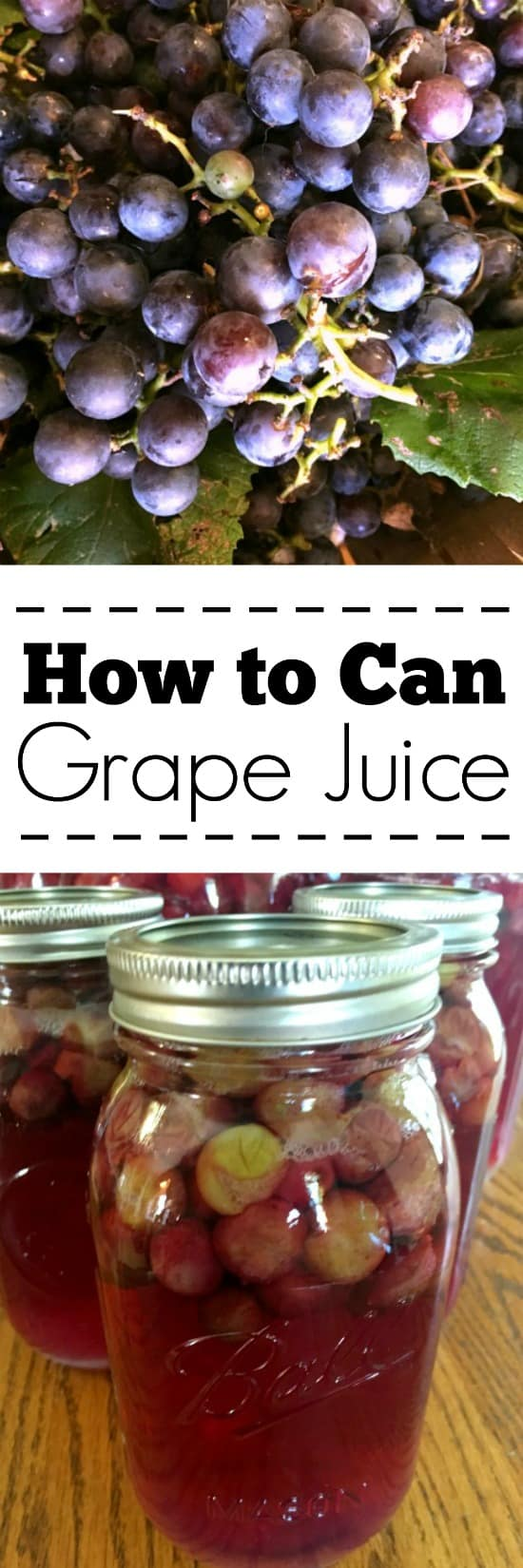 Grapes and Grape juice in canning jars