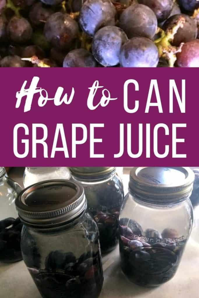 How to Can Grape Juice - A step by step guide